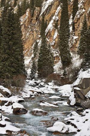 kyrgyzstan: Grigoriev gorge. Kyrgyzstan Foto de archivo