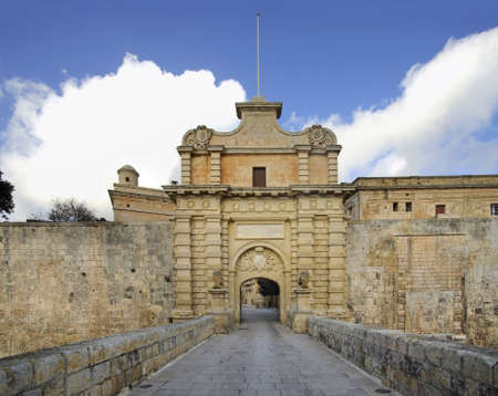 main gate: Main gate of city in Mdina Malta