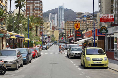 Street in Benidorm. Spain Editorial