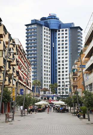 spanish homes: Pedestrian street in Benidorm. Spain Editorial