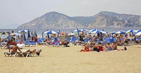 seaboard: Beach in Benidorm. Spain