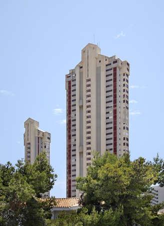spanish homes: View of Benidorm. Spain