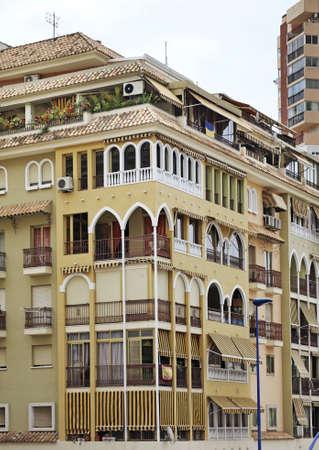 spanish homes: Building in Benidorm. Spain Stock Photo
