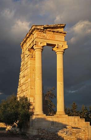 apollo: Sanctuary of Apollon Hylatis. Temple of Apollo in Kourion. Cyprus