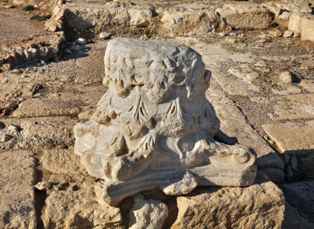 historic site: Ancient town in Kourion. Cyprus Stock Photo