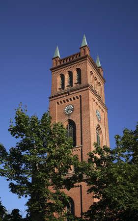 protestant: Protestant Trinity church in Vaasa. Finland Stock Photo