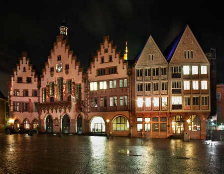 roemer: Townhouse on Romerberg plaza Roemer Square in Frankfurt am Main. Germany