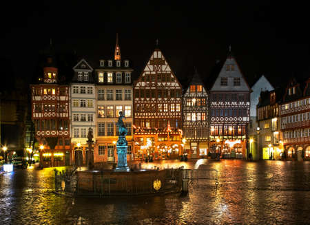 roemer: Romerberg plaza Roemer Square in Frankfurt am Main. Germany