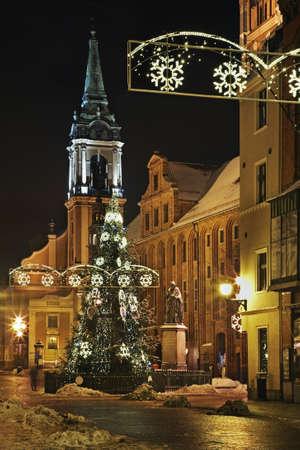 torun: Market Square in Torun. Poland