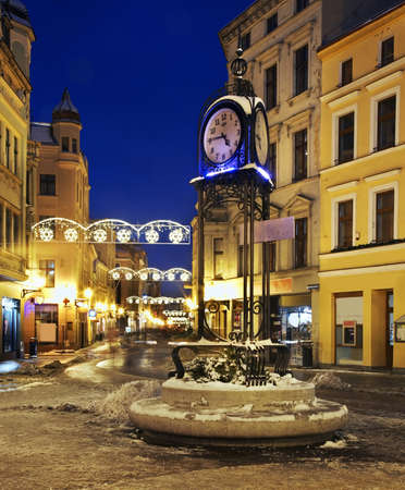 szeroka: Szeroka Wide street in Torun. Poland Stock Photo