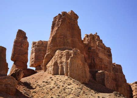 paysage: National Park Sharyn Canyon Valley of castles. Kazakhstan
