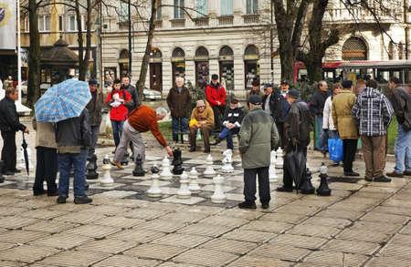 herzegovina: Big chess in Sarajevo. Bosnia and Herzegovina