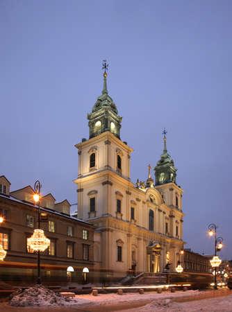 new world: Holy Cross Church. Nowy Swiat New World street. Warsaw. Poland