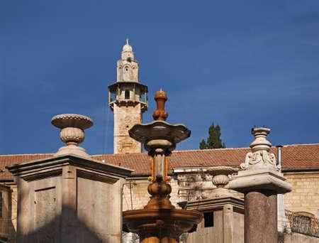 suq: Muristan square, Suq Aftimos in Jerusalem. Israel
