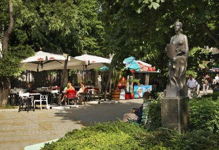 bulgaria: Slivnica boulevard in Varna. Bulgaria