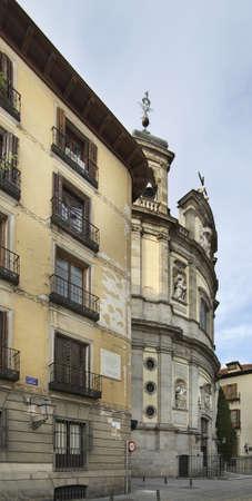 michael: Pontifical Basilica of St. Michael in Madrid. Spain Stock Photo
