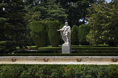 statuary garden: Sabatini gardens in Madrid. Spain