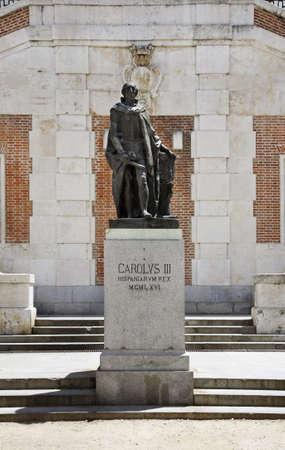 statuary garden: Monument to Carlos III Sabatini gardens. Madrid. Spain Editorial