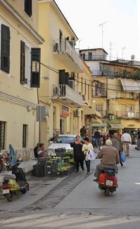 corfu: Street in Corfu city. Greece