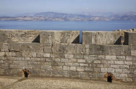 corfu: New fortress in Corfu city. Greece Stock Photo