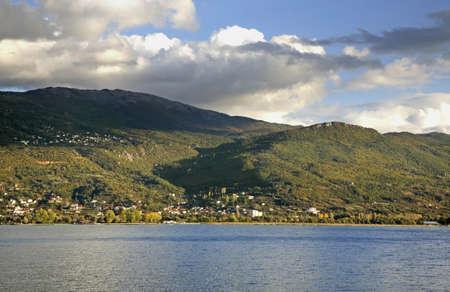 paysage: View of Ohrid lake. Macedonia