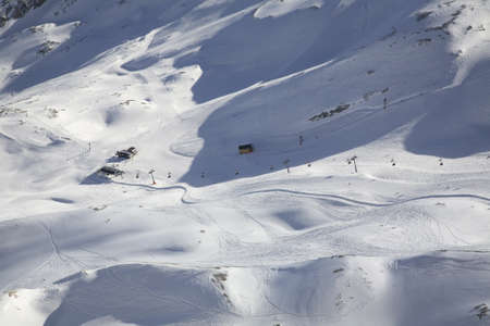 zugspitze mountain: Ski run of Zugspitze mountain. Bavaria. Germany