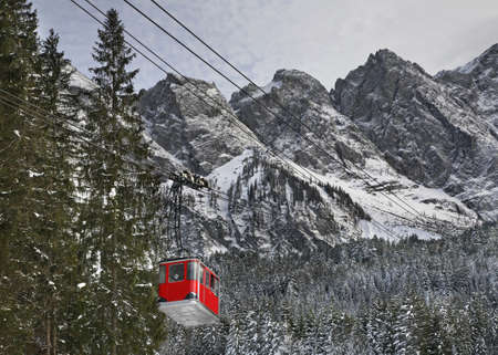 zugspitze mountain: Cableway. Zugspitze mountain. Bavaria. Germany Stock Photo