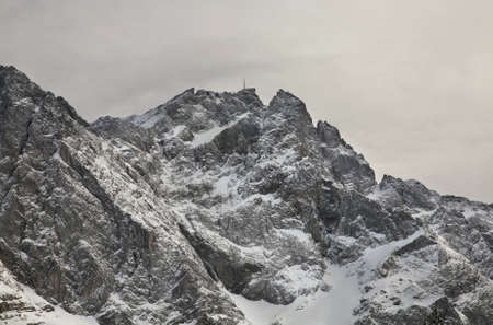 paysage: View of Zugspitze mountain. Bavaria. Germany