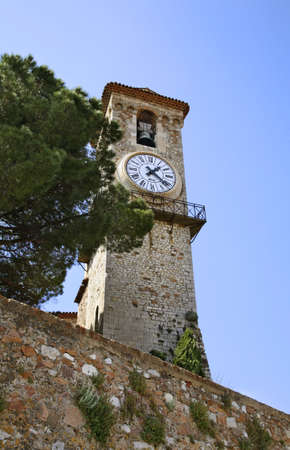 the church of our lady: Bell tower of church of Our Lady of Hope in Cannes. France