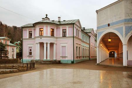 bathhouse: Old bathhouse in Iwonicz-Zdroj. Poland Stock Photo
