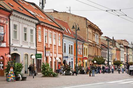 Main Street Hlavna ulica in Presov. Slovakia