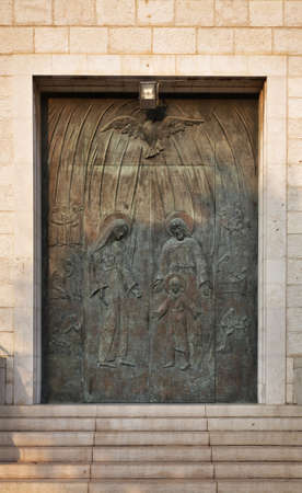 st  joseph: Door of Parish Church of St. Joseph in Haifa. Israel