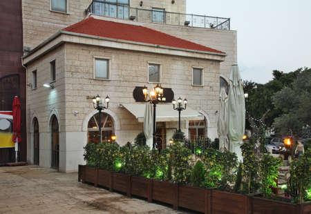 haifa: Street in Haifa. Israel Stock Photo