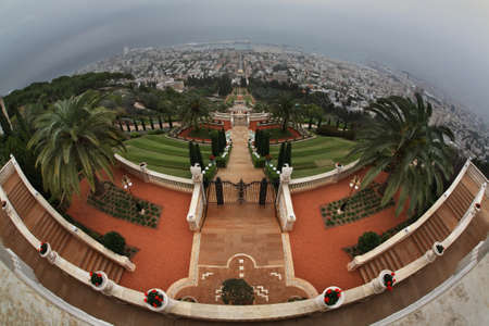 bahai: Bahai gardens in Haifa. Israel