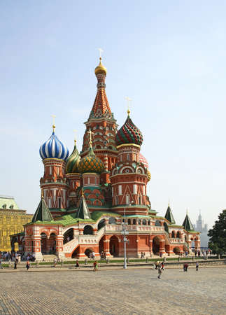 intercession: Cathedral of Saint Basil in Moscow. Russia