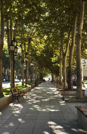 rustaveli: Rustaveli Avenue in Tbilisi. Georgia