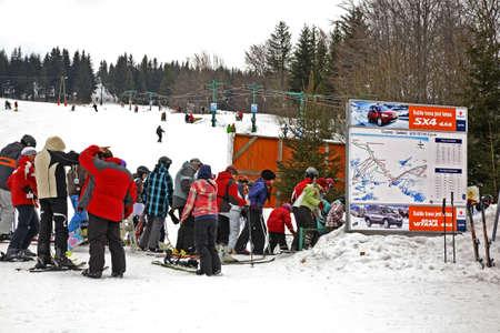 piste: Piste Ski track in Szczyrk. Poland