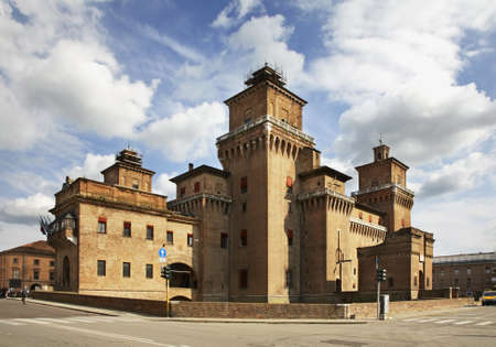 Castle of St. Michael - Castello Estense in Ferrara. Italy Editorial