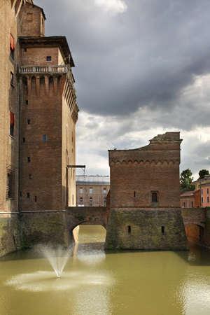 michael: Castle of St. Michael - Castello Estense in Ferrara. Italy Editorial