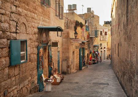 bethlehem: Old street in Bethlehem. Palestinian territories. Israel