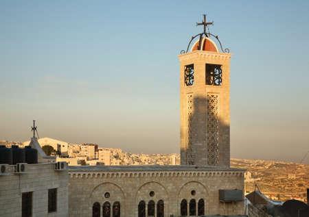palestinian: Greek Byzantine Catholic Church in Bethlehem. Palestinian territories. Israel