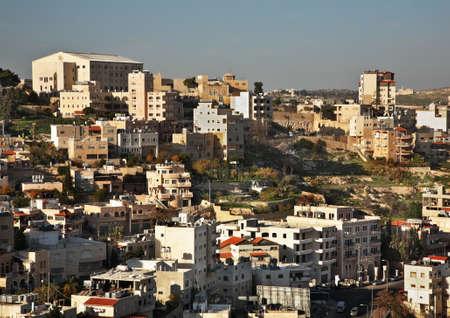 palestinian: Panoramic view of Bethlehem. Palestinian territories. Israel Stock Photo
