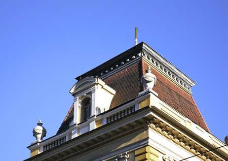 tyrol: Fragment of building in Innsbruck. Tyrol. Austria Stock Photo