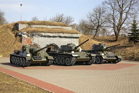 brest: Tanks in Brest-Litovsk fortres. Brest
