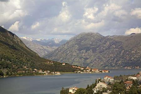 boka: View of Boka kotorska in Kotor. Montenegro