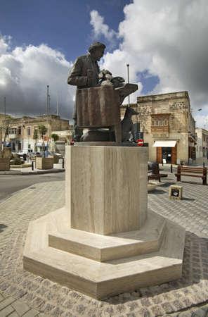 anton: Monument to Anton Agius in Rabat. Malta Editorial