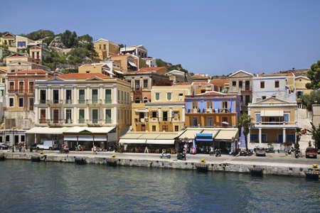 ano: Embankment in Ano Symi. Greece