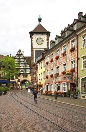 freiburg: Schwabentor - Swabian gate Freiburg im Breisgau. Germany Editorial