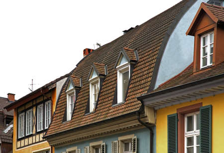 freiburg: Fragment of old building in Freiburg im Breisgau. Germany Stock Photo