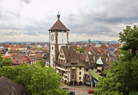 Panoramic view of Freiburg im Breisgau. Germany